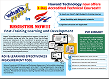 Haward Technology now offers 3 day accredited technical courses
